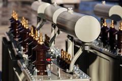 New high voltage transformer Stock Photos