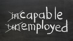 capable, employed - stock photo