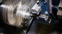 CNC Aluminium rotary milling Stock Footage