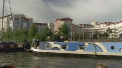 Bristol docks boat ride Stock Footage