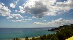 Sea, Nature Scene, Time Lapse, Caminia Beach, Catanzaro, 4k Stock Footage