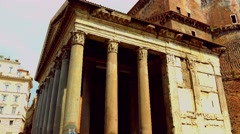 ULTRA HD 4K real time shot,Tourists visit Rome near the Pantheon Stock Footage