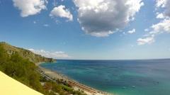 Sea, Nature Scene, Real Time, Caminia Beach, Catanzaro, 4k Stock Footage