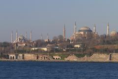 Hagia Sophia and Sultanahmet Mosque - stock photo