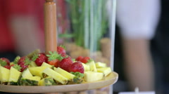 A healthy snack on the table Stock Footage