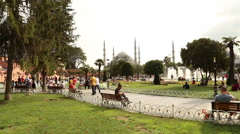 Sultan Ahmet (Ahmed) Mosque Istanbul Stock Footage