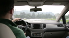 Driver on a safety drive training - stock footage