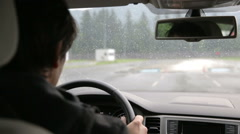 Safety training for car drivers Stock Footage