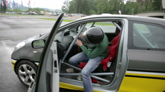 Safety training for fast driving - stock footage