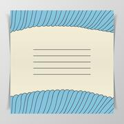 Striped blue wave Cover for Notebook Stock Illustration