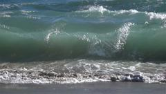 Ocean Waves 480fps 06 Slow Motion x16 Stock Footage