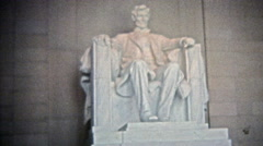 WASHINGTON DC 1975: Lincoln Jefferson JFK  Washington memorials. Stock Footage