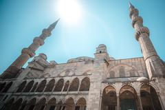 View of the majestic BLue Mosque, Istanbul, Turkey. - stock photo