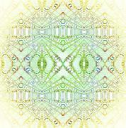 Seamless ellipses pattern pastel green - stock illustration