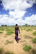 Samburu chief - stock photo