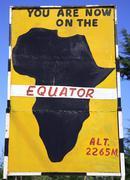 Equator sign - stock photo