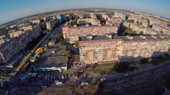 Aerial shot of  Ukraine outskirts of Dnepropetrovsk Stock Footage