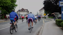 Cycling marathon first kilometers - stock footage