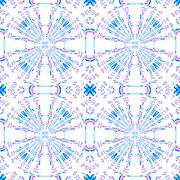 Seamless circle pattern white blue violet - stock illustration