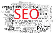 Stock Illustration of SEO - Search Engine Optimization poster