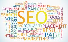 Stock Illustration of Search Engine Optimization poster