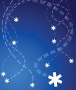 Flying snowflakes Kuvituskuvat