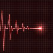 Abstract heart beats cardiogram - stock illustration