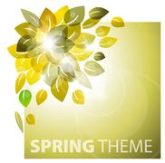 Spring leafs abstract background Stock Illustration