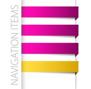 Modern violet navigation items in right bar Stock Illustration