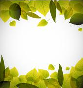 Spring leafs abstract background - stock illustration