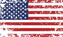 Grunge flag of United States Stock Illustration