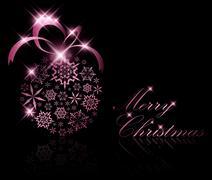 Abstract Christmas ball decoration Stock Illustration