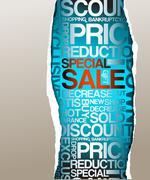 Sale discount advertisement - stock illustration