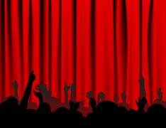 People at the concert - stock illustration