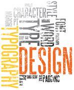 Grunge typography background - stock illustration