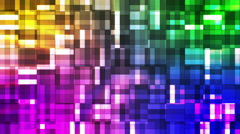 Broadcast Twinkling Squared Hi-Tech Blocks, Multi Color, Abstract, Loopable, HD Stock Footage
