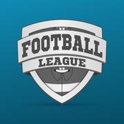 American Football graphic Label - stock illustration