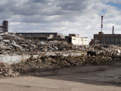 Demolished industrial building, Moscow - stock photo