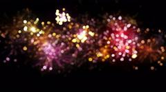 Blurred fireworks seamless loop background 4k (4096x2304) Stock Footage