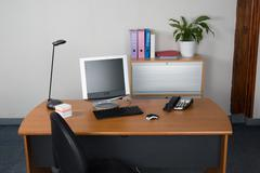 Modern office interior with nobody Stock Photos