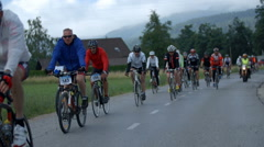 Cycling marathon after few kilometers - stock footage