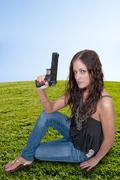 Female Detective - stock photo