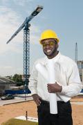Black Man Construction Worker Stock Photos