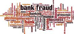 Bank fraud word cloud Stock Illustration