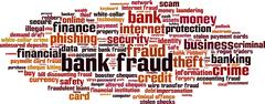 Bank fraud word cloud Stock Illustration