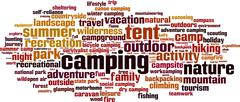 Stock Illustration of Camping word cloud