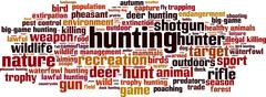 Hunting word cloud Stock Illustration