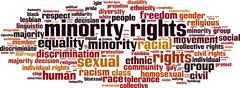 Stock Illustration of Minority rights word cloud