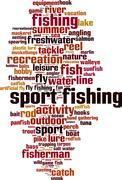 Sport fishing word cloud Stock Illustration