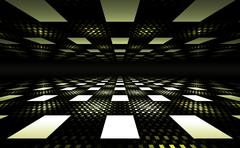 Stock Illustration of 3D Illusion Geometric Background